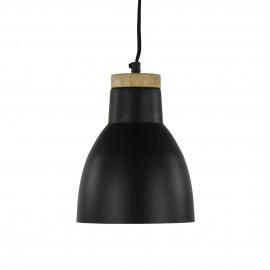 YUPE - hanglamp - metaal - DIA 17,5 x H 22 cm - zwart