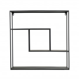 ZEN - wall rack - iron - L 61 x W 15 x H 61 cm - black