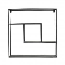 ZEN - muurrek - ijzer - L 61 x W 15 x H 61 cm - zwart