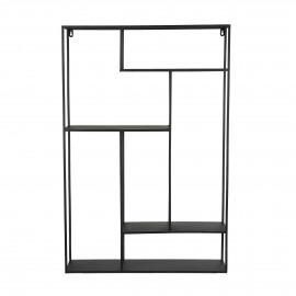 ZEN - muurrek - ijzer - L 61 x W 15 x H 91 cm - zwart