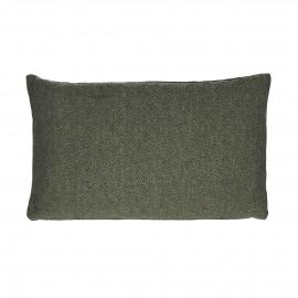FLANEL - Kussen - gerecycleerd wol/ katoen - Groen - 50x30 cm