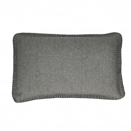 FLANEL - Kussen - Gerecycleerd wol - Grijs/Anthra - 30x50 cm