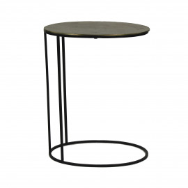 PASO - Side table - Metal -Antic gold/Black - 48x32.5x62 cm