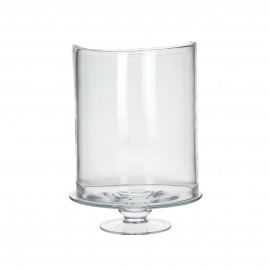 RENE - glas - DIA 27 x H 6 cm - transparant