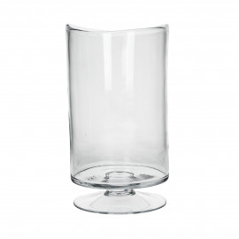 RENE - Windlicht - Mondgeblazen glas - Clear- L - Ø17xh30cm