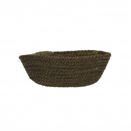 NATURE - bread basket - jute - olive green - Ø19x11x7 cm