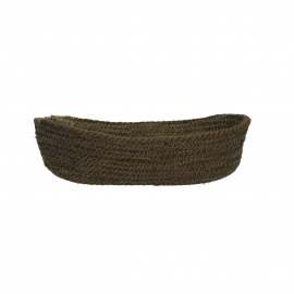 NATURE - bread basket - jute - olive green - Ø32x18x7 cm