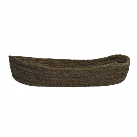 NATURE - bread basket - jute - olive green - Ø42x18x7 cm