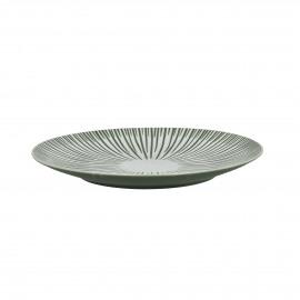 ZEBRA - dessert bord - porselein - groen - Ø22 cm