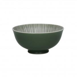 ZEBRA - bowl - porcelain - green - Ø12x6 cm