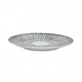 ZEBRA - dessert plate - porcelain - white - Ø22 cm
