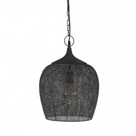 RALIT - hanglamp - metaal - antiek zwart - Ø31,5x45 cm