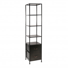 TYPOGRAPHIC - rack - iron - L 41 x W 43 x H 180,5 cm - black