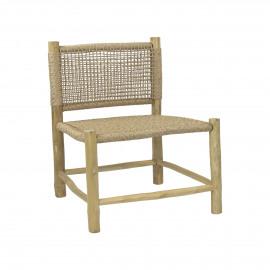 TREILLAGE - fauteuil - teck / virofiber - L 62 x W 62 x H 71 cm - naturel