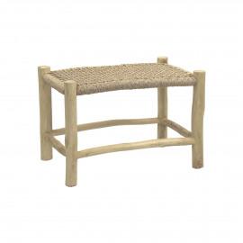TREILLAGE - footrest - teak / virofiber - L 62 x W 38 x H 38 cm - natural