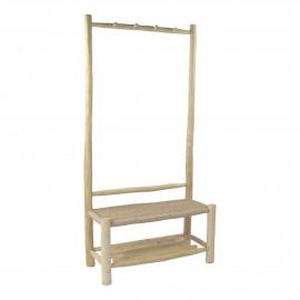 TREILLAGE - coat rack - teak / virofiber - L 90 x W 40 x H 180 cm - natural