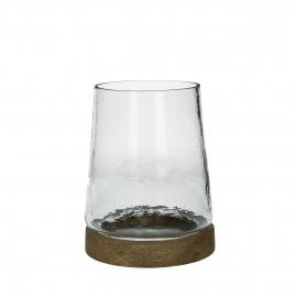 MONZA - photophore - verre - DIA 18 x H 22 cm - transparant