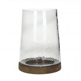 MONZA - hurricane - glass - DIA 20 x H 26 cm - clear