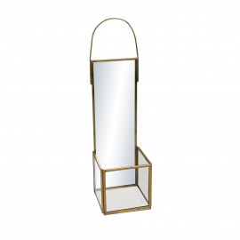 ZIVAGO - mirror/candle holder - glass / metal - L 11 x W 11 x H 38 cm - gold
