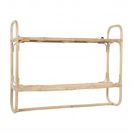 SAM - wall rack - rattan - L 90 x W 25 x H 70 cm - natural