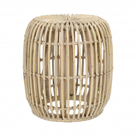 KIM - side table - rattan - DIA 37 x H 42 cm - natural