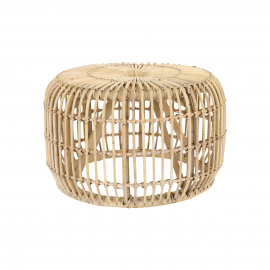 KIM - side table - rattan - DIA 60 x H 37 cm - natural