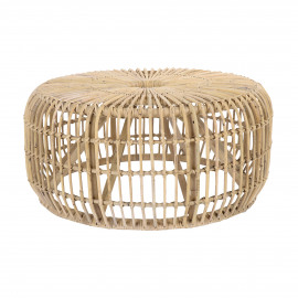 KIM - side table - rattan - DIA 80 x H 35 cm - natural