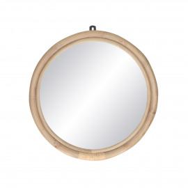 SAM - mirror - rattan / mirror glass - DIA 47 x W 3 cm - natural