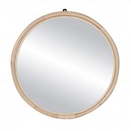 SAM - spiegel - rotan / spiegelglas - DIA 72 x W 3 cm - naturel