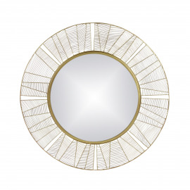 FINESSE - miroir - fer / verre miroir - DIA 90 x W 2 cm - Or