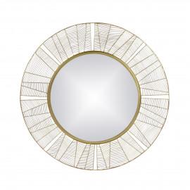 FINESSE - mirror - iron / mirror glass - DIA 90 x W 2 cm - gold