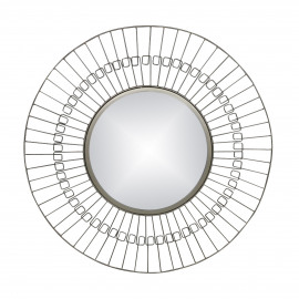 FINESSE - mirror - iron / mirror glass - DIA 80 x W 2 cm - Nickel