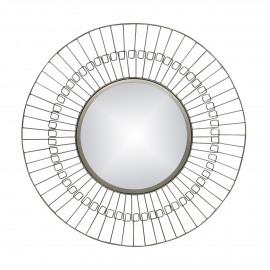 FINESSE - spiegel - ijzer / spiegelglas - DIA 80 x W 2 cm - Nikkel