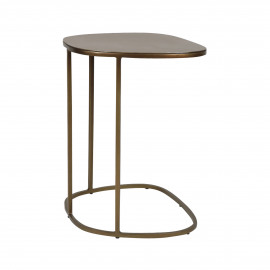 FINESSE - table basse - fer - L 41 x W 36 x H 51 cm - Brass