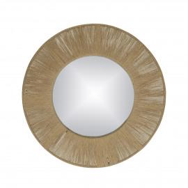 FINESSE - miroir - miroir / corde - DIA 50 x W 2 cm - Naturel