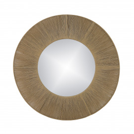 FINESSE - spiegel - spiegel / touw - DIA 80 x W 2 cm - naturel