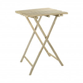 HAVANA - table haute - teck - L 70 x W 70 x H 105 cm - Naturel