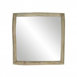 INSULA - miroir - teck - L 40 x W 5 x H 40 cm - naturel