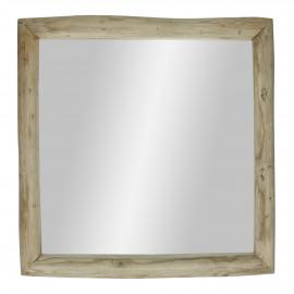 INSULA - spiegel - teak - L 60 x W 5 x H 60 cm - naturel