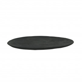 ALGARVE - rond bord - teak - DIA 33 cm - zwart