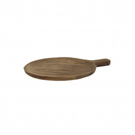 ALGARVE - plate with handle - teak - L 23 x W 18 x H 1,5 cm - natural