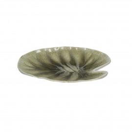BIG BANG - brood bordje blad - stoneware - beige - 15x16 cm