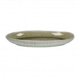 BIG BANG - ovaal bord - stoneware - beige - 30x17 cm