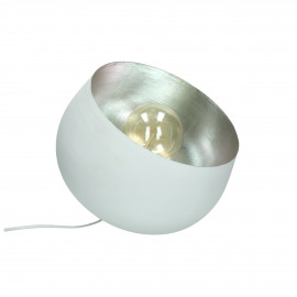 LUMINO - lampe de table - métal - DIA 25 x H 28 cm - blanc
