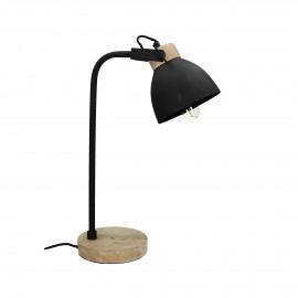 GALAXIE - lampe de table - fer / mangier - L 18 x W 30 x H 52 cm - noir