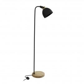 GALAXIE - staande lamp - ijzer / mango - L 28 x W 40 x H 150 cm - zwart