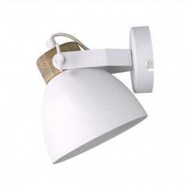 GALAXIE - muurlamp - ijzer / mango - L 16 x W 21 x H 17 cm - wit