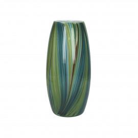 PASKI - vase - verre - DIA 12 x H 26 cm - vert