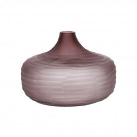 ORIZZO - vase - glass - DIA 27 x H 18,5 cm - purple