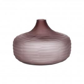 ORIZZO - vase - verre - DIA 27 x H 18,5 cm - pourpre